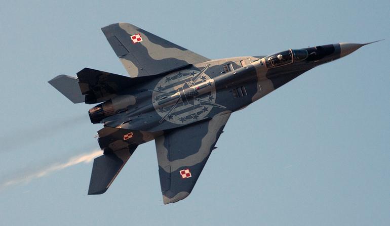 В Польше разбился МиГ-29, пилот погиб