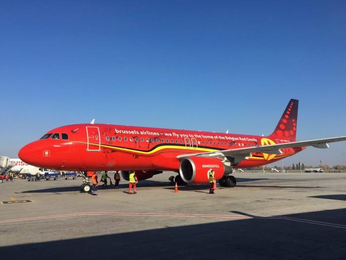 Brussels Airlines выполнила первый рейс в Украину