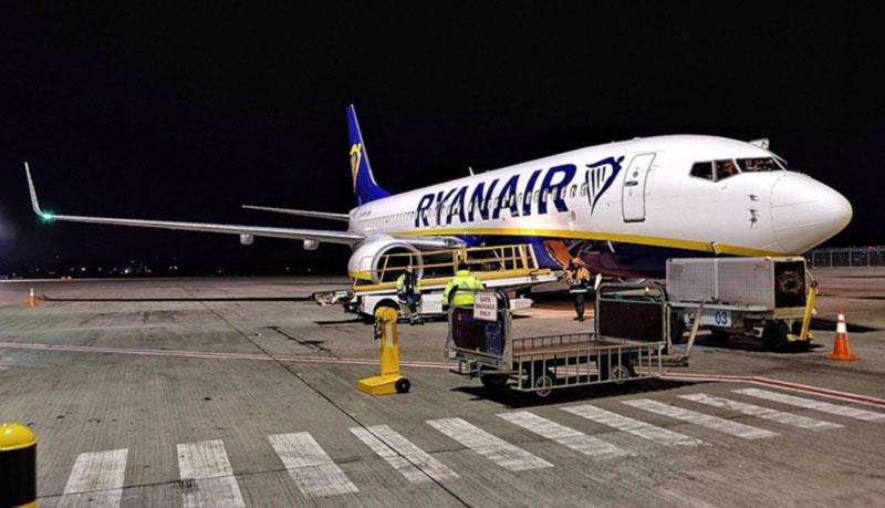 Ryanair увеличивает частоту рейсов из Украины
