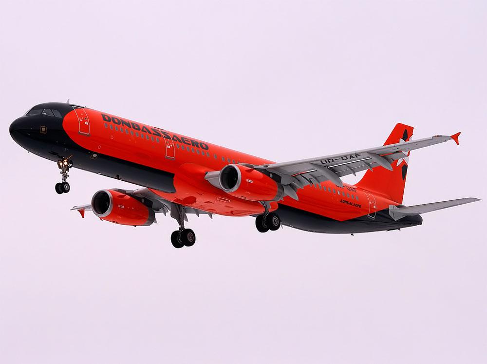 A321 «Донбассаэро» в новой раскраске