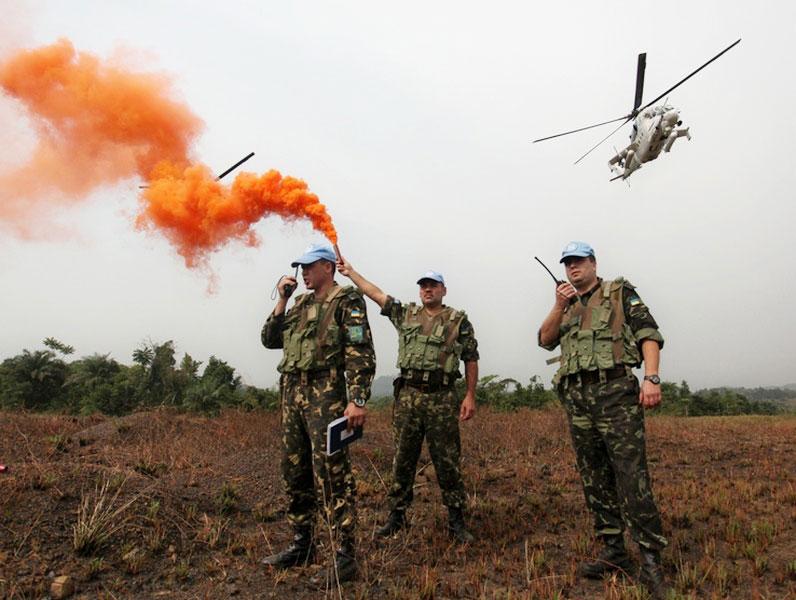 В Либерии проведена практическая тренировка по взаимодействию авианаводчиков с экипажами Ми-24