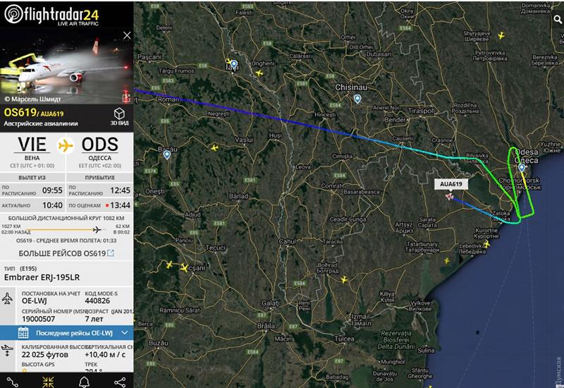 Самолет «Австрийских авиалиний» не смог приземлиться в Одессе