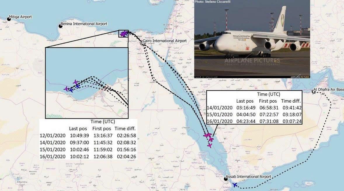 """""""Руслан"""" с украинской регистрацией продолжает летать в Ливию?"""