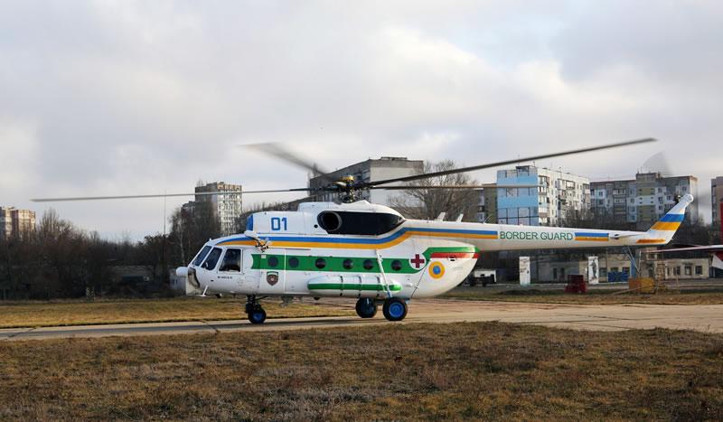 Одесские пограничники получили модернизированный Ми-8 МСБ-В