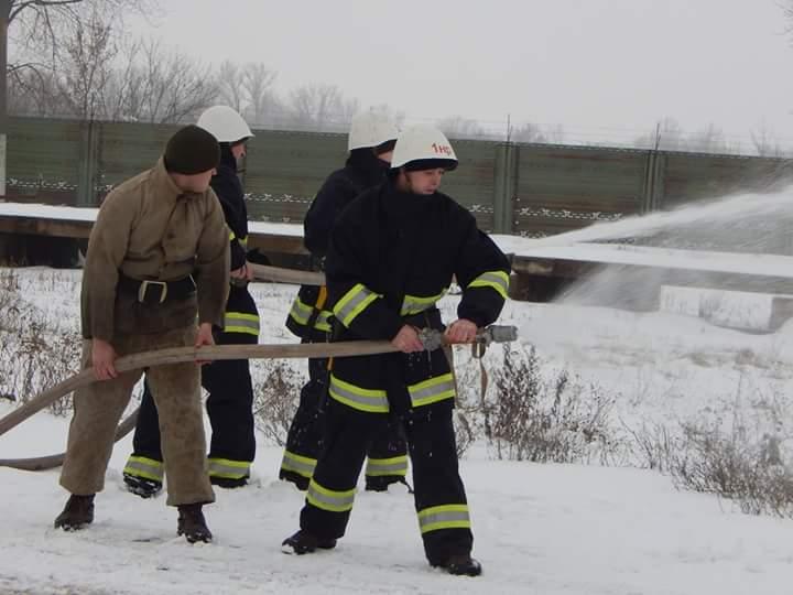 В бригаде тактической авиации учились ликвидировать пожары на военных объектах