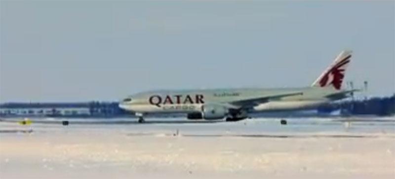 Первый грузовой самолет Qatar Airways прилетел в Борисполь
