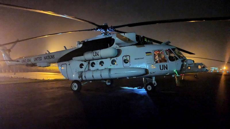 В Конго состоялись ночные полеты вертолетчиков