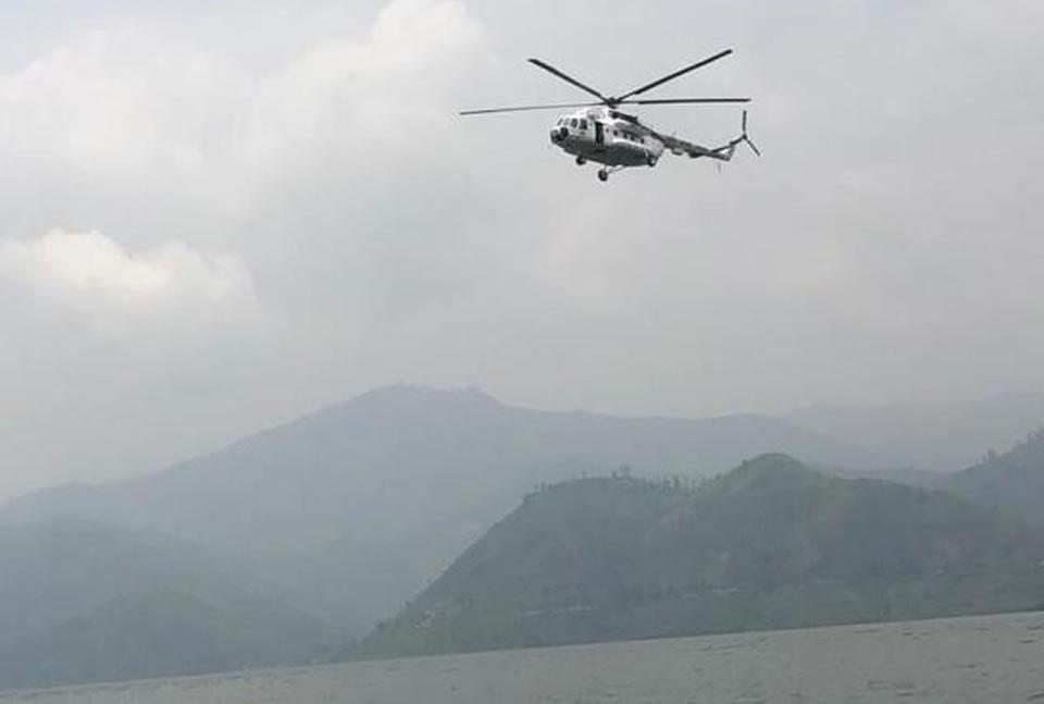 Украинские вертолетчики провели в Конго тренировки по спасательным работам