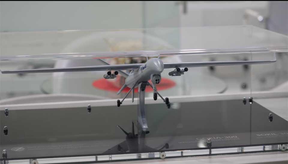На выставке в Абу-Даби представили ударный беспилотник «Сокол»