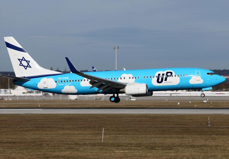 EL AL начала выполнять рейсы из Киева в Израиль под брендом UP
