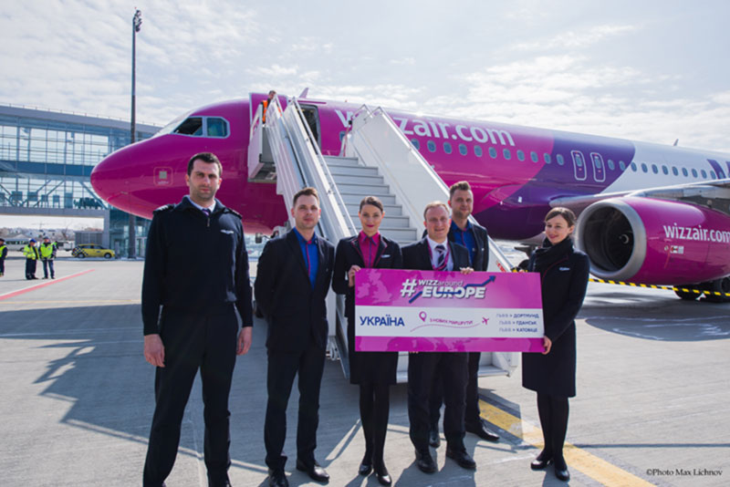 WIZZ AIR празднует запуск трёх новых маршрутов из Львова