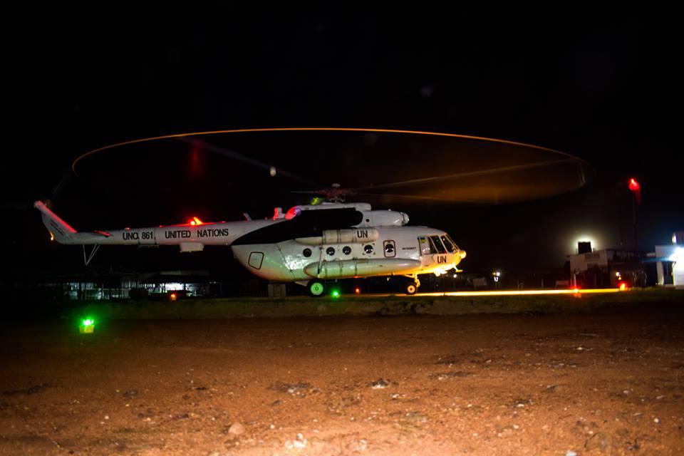 Украинские вертолетчики в Конго протестировали медэвакуацию ночью