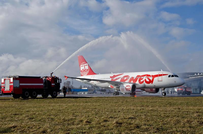 """Аэропорт """"Киев"""" встретил первый рейс из Генуи"""