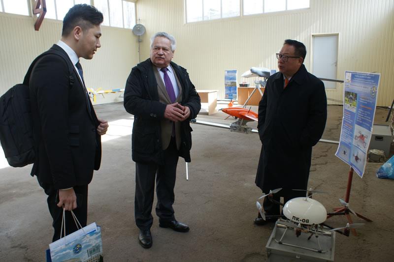 Руководство Всемирной ассоциации беспилотной авиации посетило НАУ