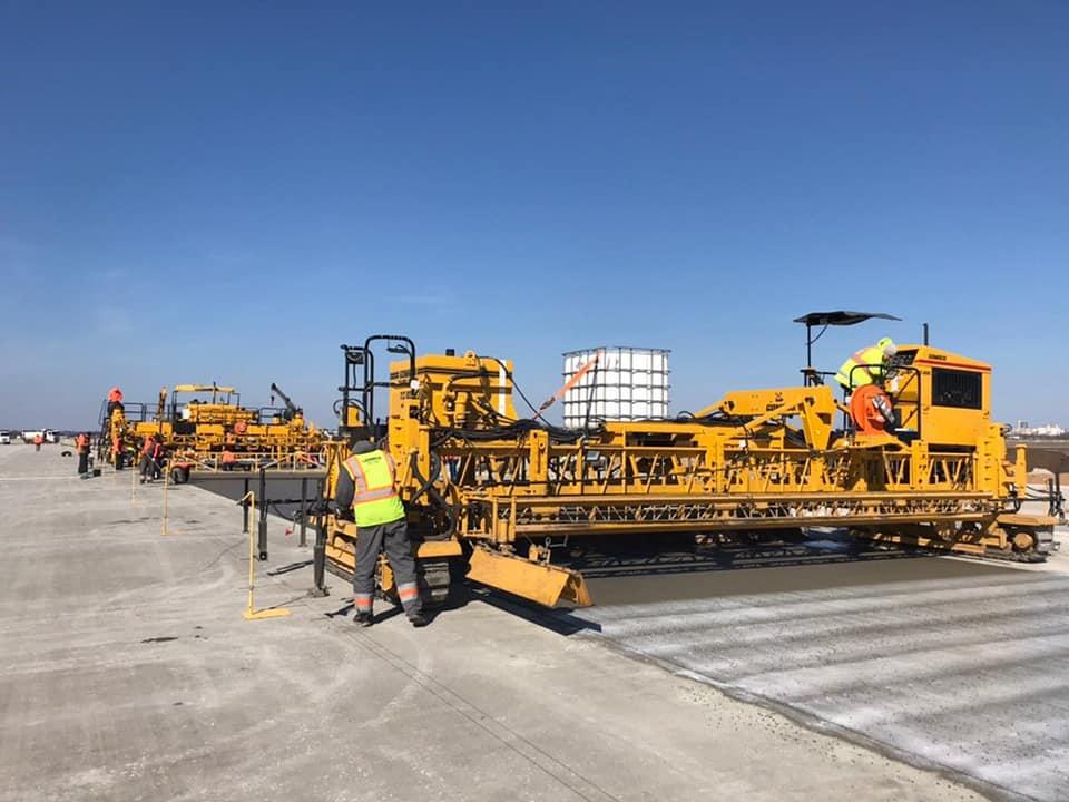 Сезон бетонных работ в аэропорту Одесса стартовал досрочно