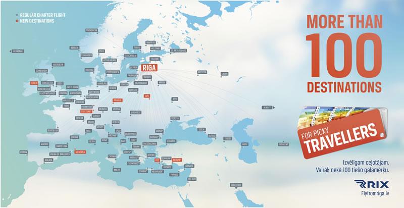 """Аэропорт """"Рига"""" в летнем сезоне предложит рекордно-широкий спектр пунктов назначения и увлекательные новости"""