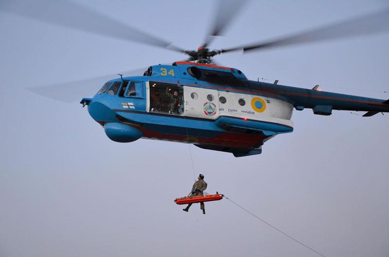 Морские авиаторы тренировались эвакуировать раненых