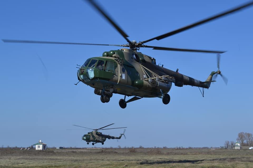 В 17 бригаде состоялись учения при участии авиации