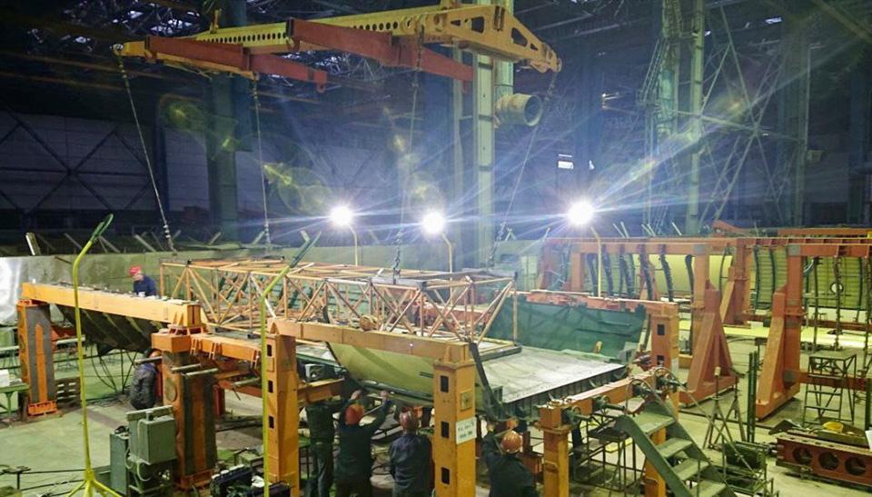 Завершено составление отсека грузового пола  Ан-178