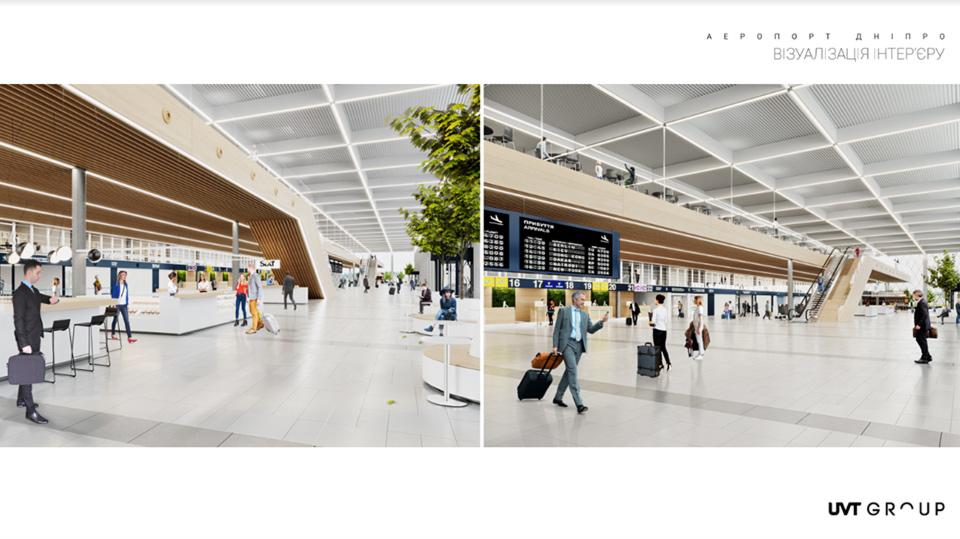 Представлен дизайн нового терминала аэропорта Днепр