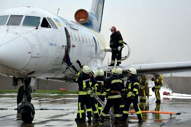В днепропетровском аэропорту провели учения