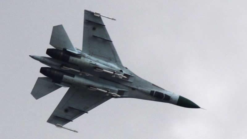 Су-27 над Краматорском, апрель 2014 г.