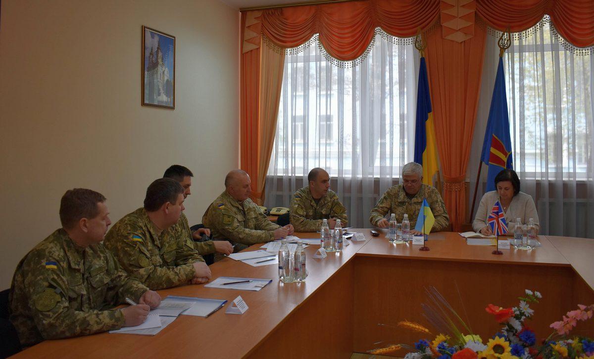 Руководство Воздушных Сил ВСУ встретилось с атташе по вопросам обороны при Посольстве Великобритании в Украине
