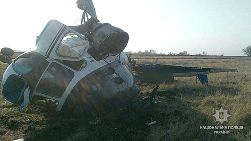 В Полтавской области упал вертолет, пострадавших нет