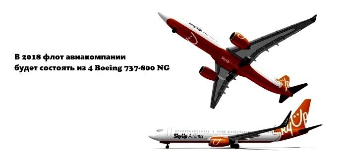 Авиакомпания SkyUp получила первые два самолета Boeing 737-800