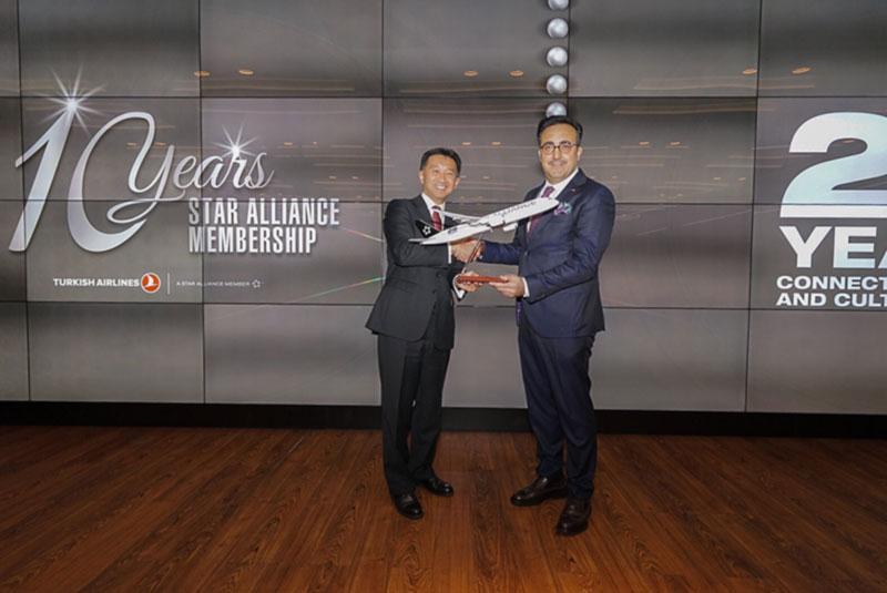 Авиакомпания Turkish Airlines отмечает 10-ю годовщину вступления в Star Alliance