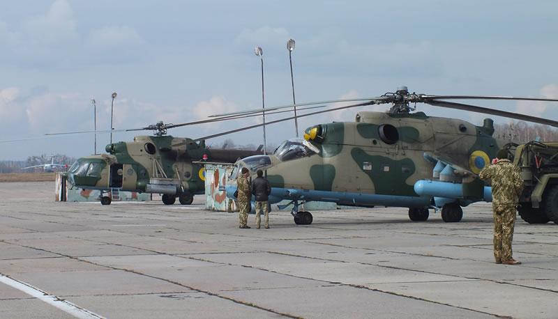В Житомирской области завершилась подготовка очередной ротации 18-го отдельного вертолетного отряда