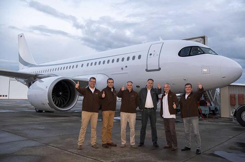 ACJ319neo установил рекорд во время испытательного полета