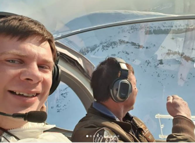 Дмитрий Комаров начал свой рекордный полет