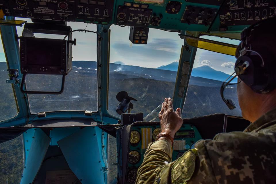 Вертолетчики 18 ОВО слетали на вулкан