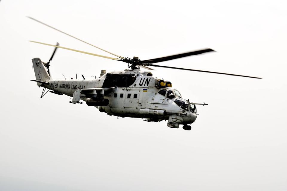 Девятая ротация украинских вертолетчиков в Конго налетала 2000 часов