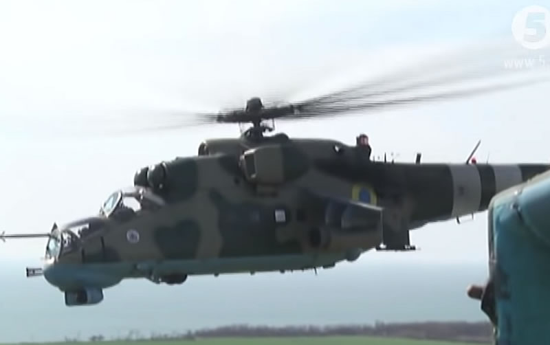 Ми-24 тренируются уничтожать наземные цели