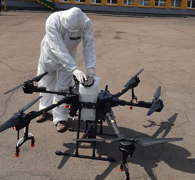 Для дезинфекции больших территорий создали пилотный проект дронов – Киевтеплоэнерго