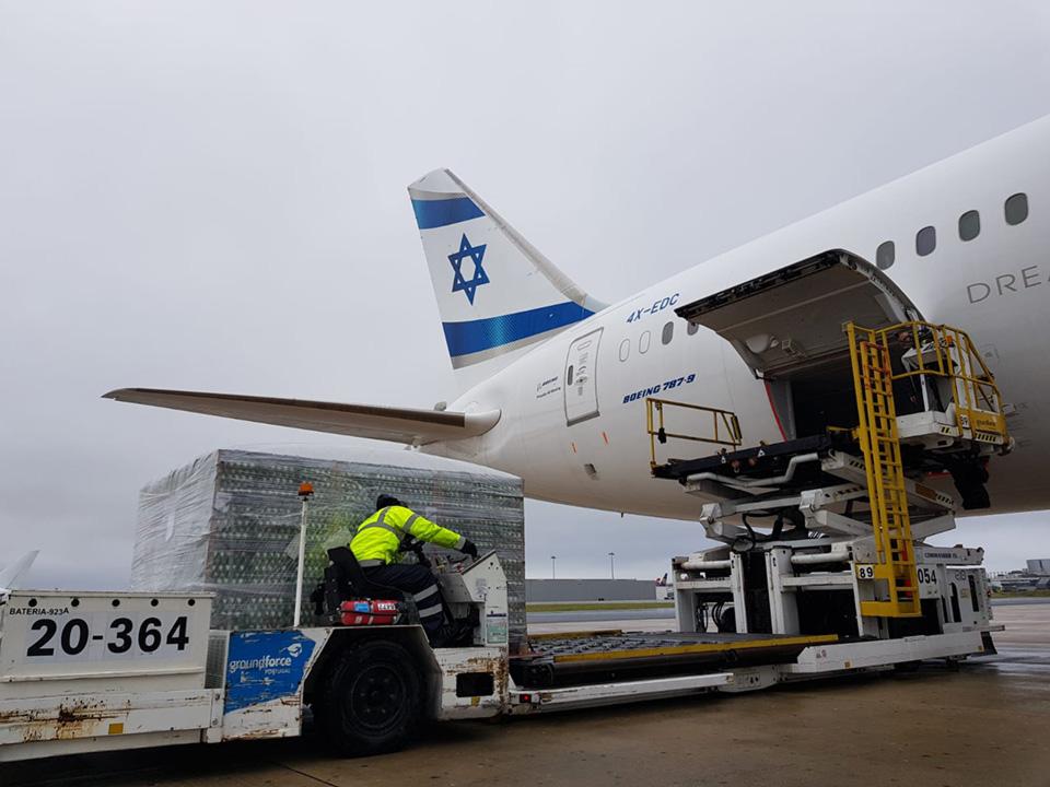 Спецрейс авиакомпании El Al доставил в Израиль 45 тонн яиц из Украины