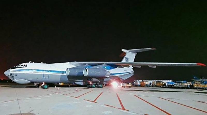 Ил-76МД Воздушных сил ВСУ доставил в Украину медицинский груз из Китая