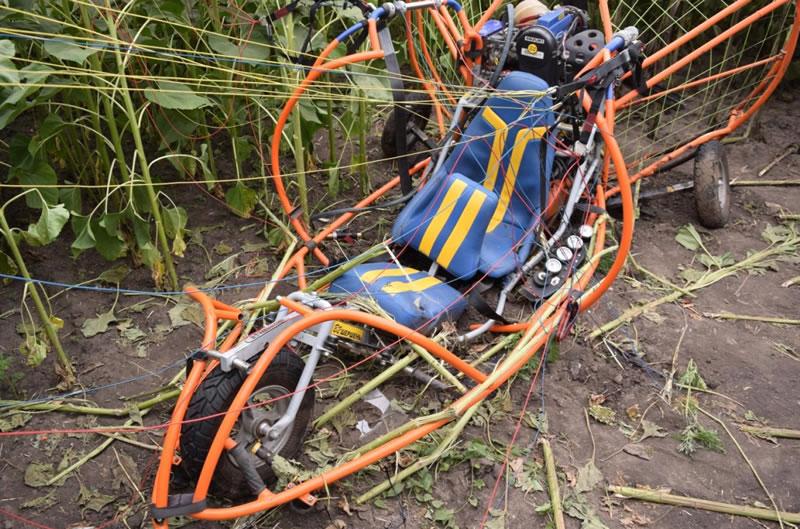 Мотопараплан в Кобеляках разбился из-за разрушения стропной системы