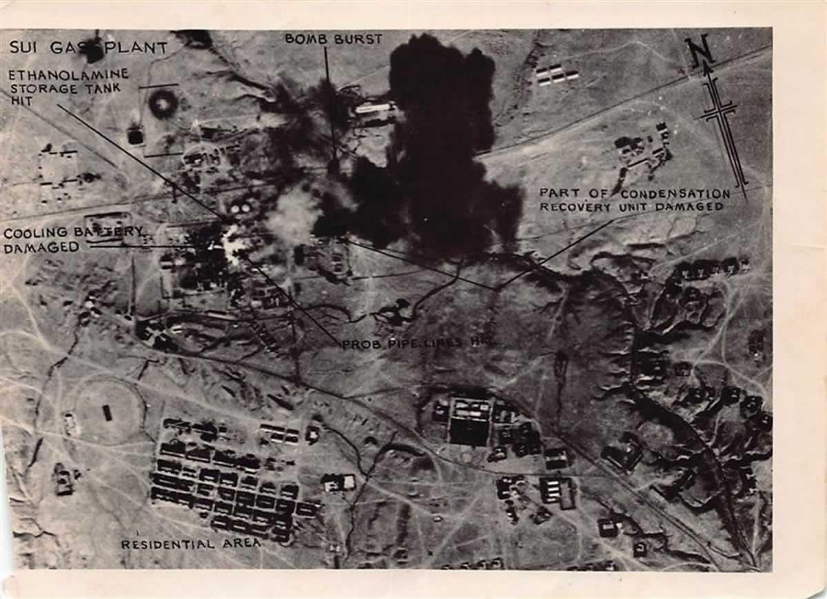 Газовый завод Суй после налета 44-й эскадрильи 15 декабря 1971 года