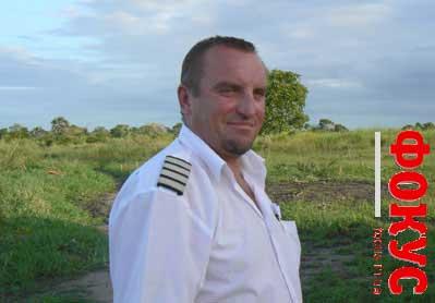 Капитан вертолёта Foxtrot Юрий Скляренко в Африке