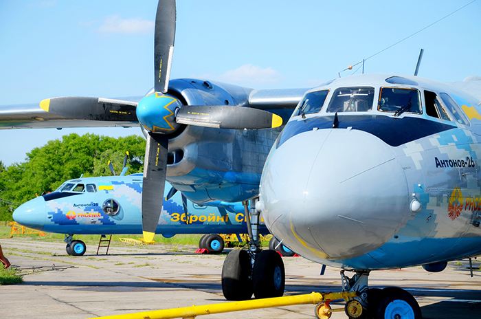 """Ан-26 """"Рятунчик"""" поднялся в небо."""