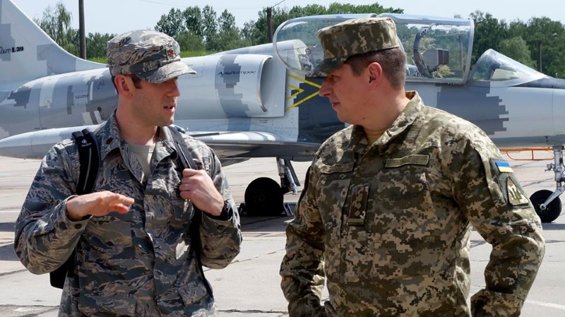 Представители ВС США побывали у Соколов Прикарпатья