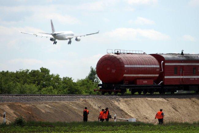 Строительство ж/д ветки к аэропорту Борисполь, источник фото ЦТС