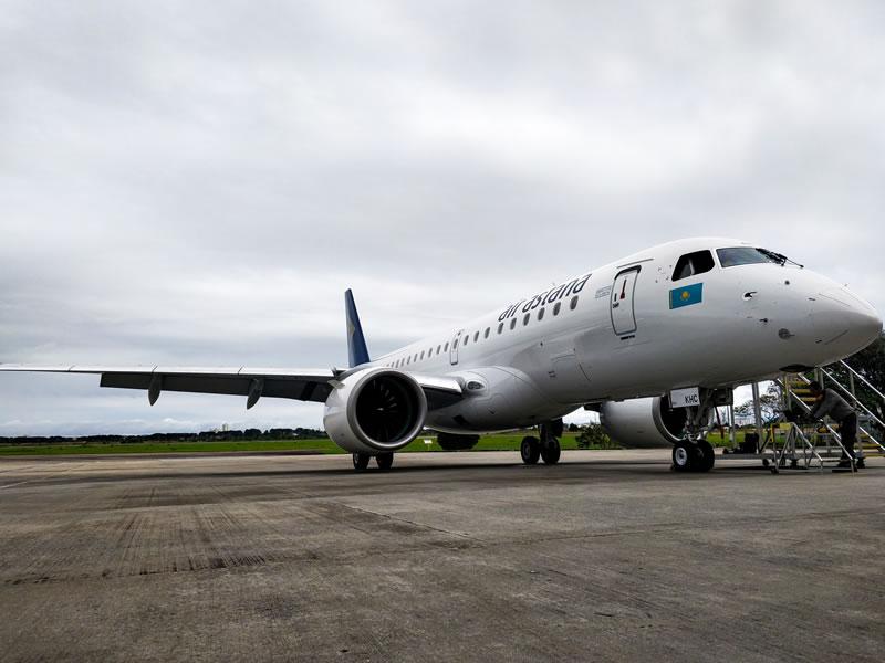 Авиакомпания «Эйр Астана» получила третий самолет Embraer 190-Е2