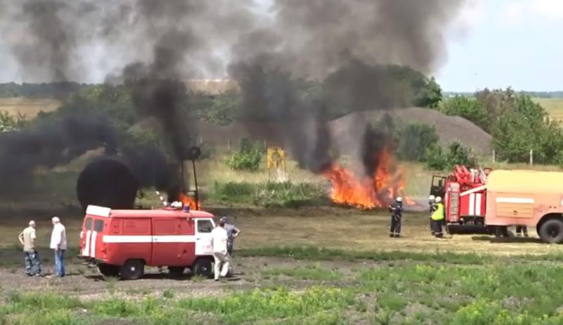 В Черкасском аэропорту состоялись учения спасательных служб