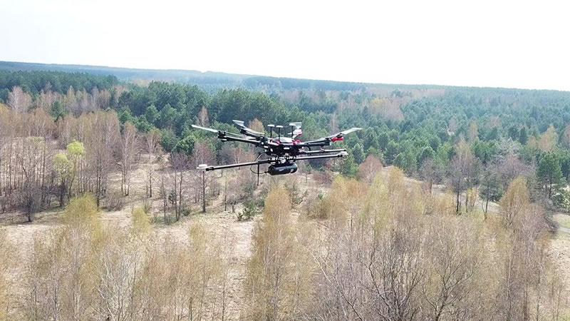 Британские дроны составили карту Рыжего леса в Чернобыле