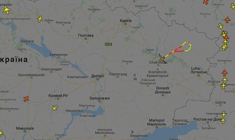 Global Hawk проводит разведку на Донбассе