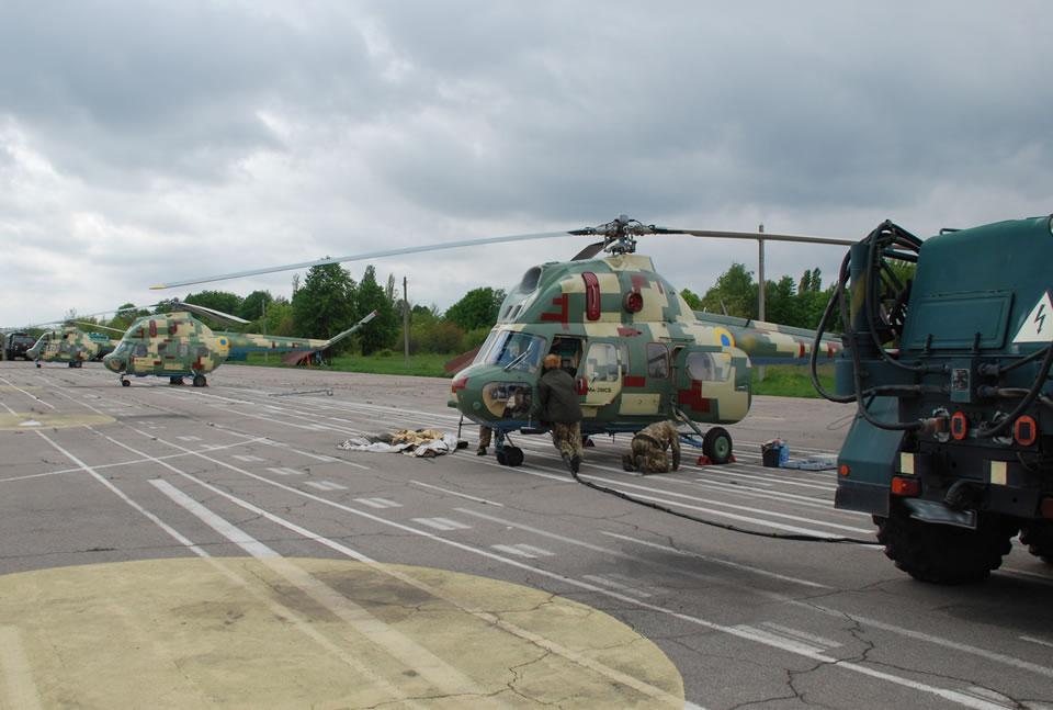 В Умани началась летная практика курсантов-вертолетчиков ХНУВС